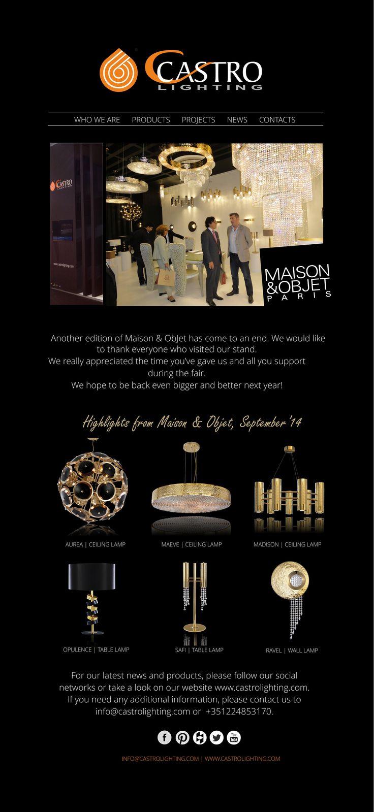 Highlights from Maison & Objet, September 2014  Subscribe to our newsletter: http://castrolighting.com/en/newsletter.php