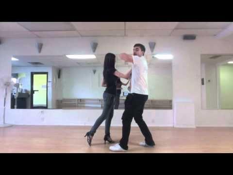 Salsa Lesson - Outside Turns, Windmills, HammerLock combo - Latin Level 2 - Nuvitzo Dance - YouTube
