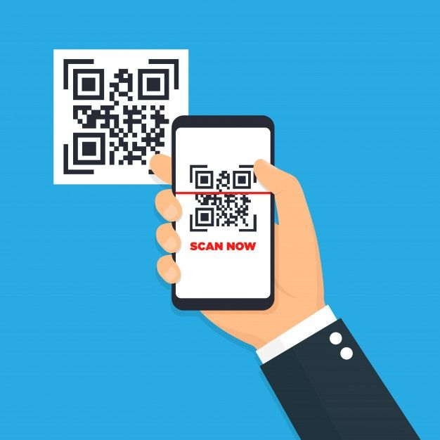 Scan Qr Code Flat Icon With Phone Barcode Illustration Qr Code Coding Flat Icon