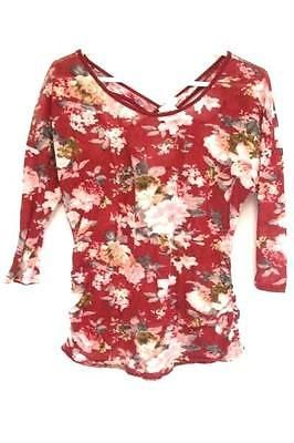 ed31d345fcc8b7 Siren Lily Maternity Cross Back Keyhole 3/4 Sleeve Floral Top Women's L |  Swedemom on eBay | Floral tops, Tops, Floral
