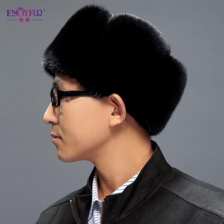 Головные уборы в стиле милитари предложение настоящее взрослые ведро шляпа военный кепка мужчины вилочная часть зима норка полный кожа мягкие фетровые шляпы мех подлинная для человека