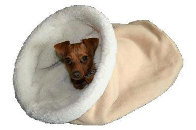 Burrow Beds Cozy cave dog bed chihuahua bed dachshund bed TAN via Etsy