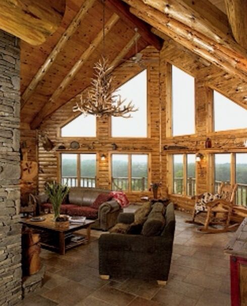 Love the big windows and high ceilings cabin 39 s i love - House with big windows ...