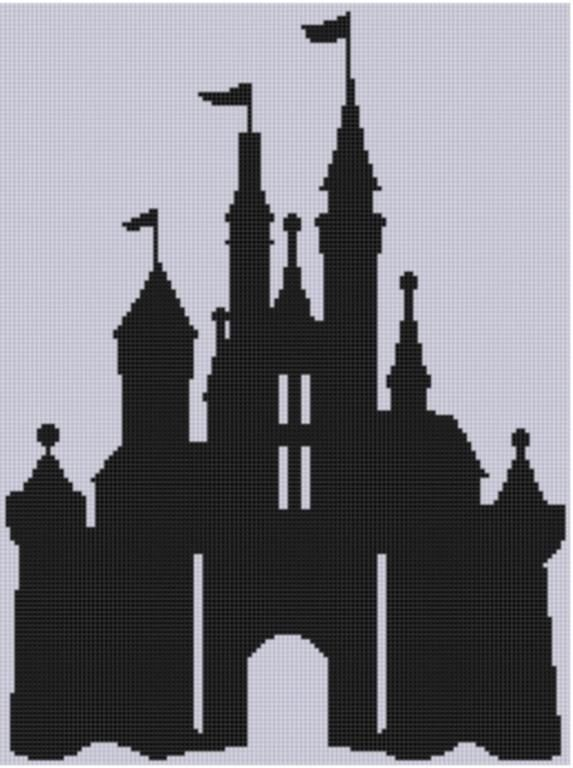 (10) Name: 'Embroidery : Cinderella Castle Cross Stitch Pattern