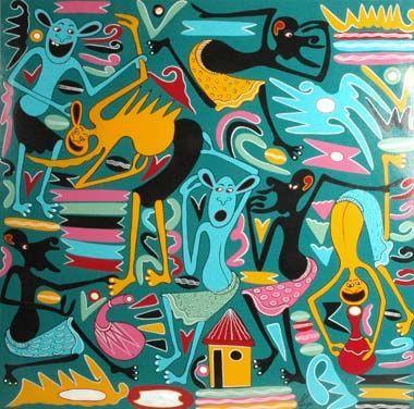 gefunden zu George Lilanga auf http://exibart.com
