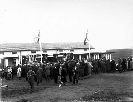 Telopea Park school opening ceremony 11 September 1923 by Sir Austin Chapman, Minister for Trade and Customs. New South Wales Crescent, Barton  .