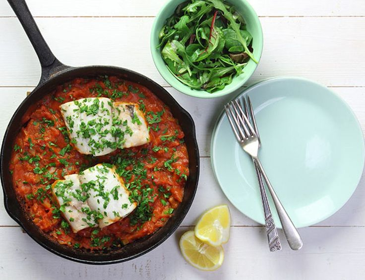 Catalonian Braised Hake Recipe | Abel & Cole Simple weekday fish.                                                                                                                                                                                 More