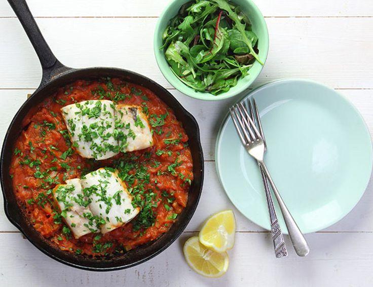 Catalonian Braised Hake Recipe | Abel & Cole Simple weekday fish.