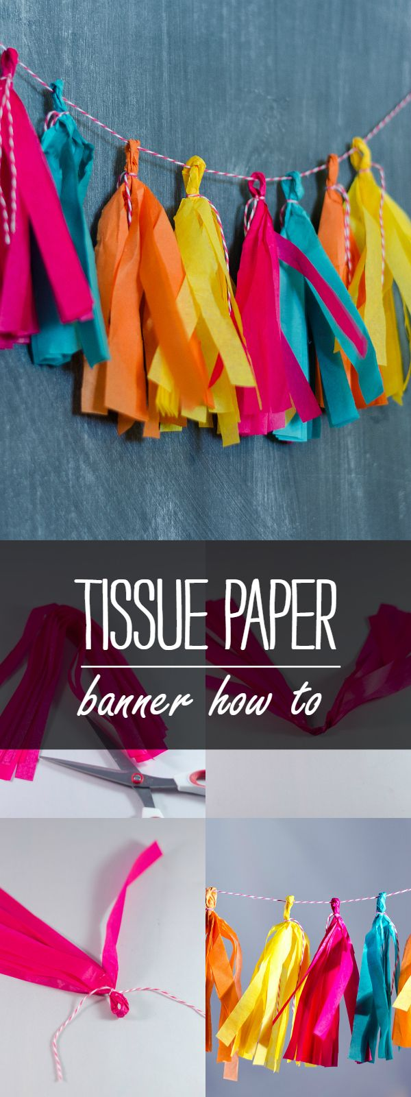 Tissue Paper Banner - It All Started With Paint