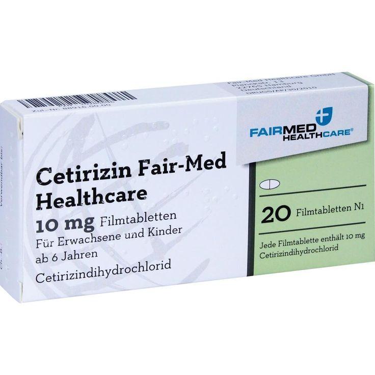 CETIRIZIN Fair-Med Healthcare 10 mg Filmtabletten:   Packungsinhalt: 20 St Filmtabletten PZN: 10280696 Hersteller: Fair-Med Healthcare…