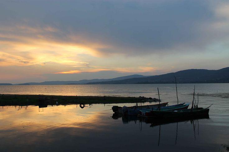 Lago di Trasimeno - zonsondergang
