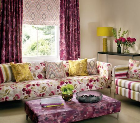Clarke & Clarke Artist Damson Collection! Perfect for the summer inspired home!