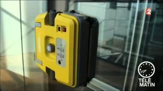 E.ziclean® Windoro 1er robot laveur de vitre au monde.