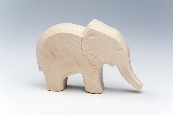 Wooden Elephant - Handmade Wooden Gifts - Eco Friendly - Toy Collector - Elephant Figurine - Wooden Statue - Kids Toys - Walfdorf Toys