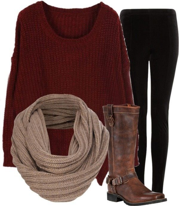 love the sweater and scarf