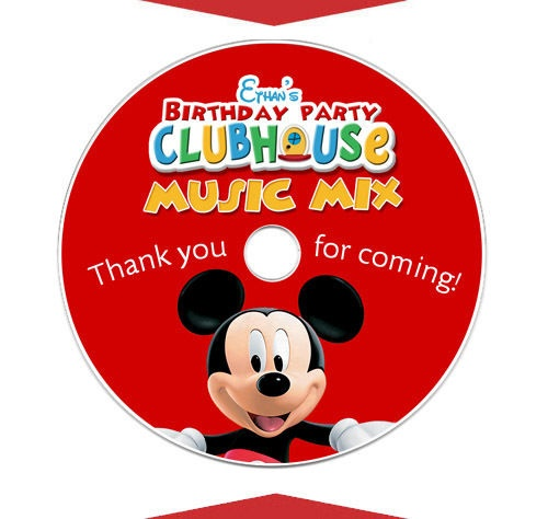 6 MICKEY MOUSE CLUBHOUSE Birthday Party Favor CD LABELS   eBay