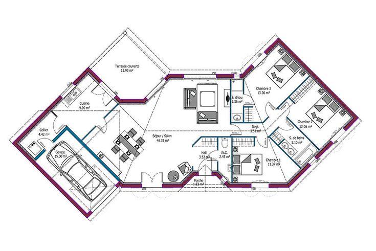 93 best Dans futur Appartement images on Pinterest Interior - calcul surface habitable maison