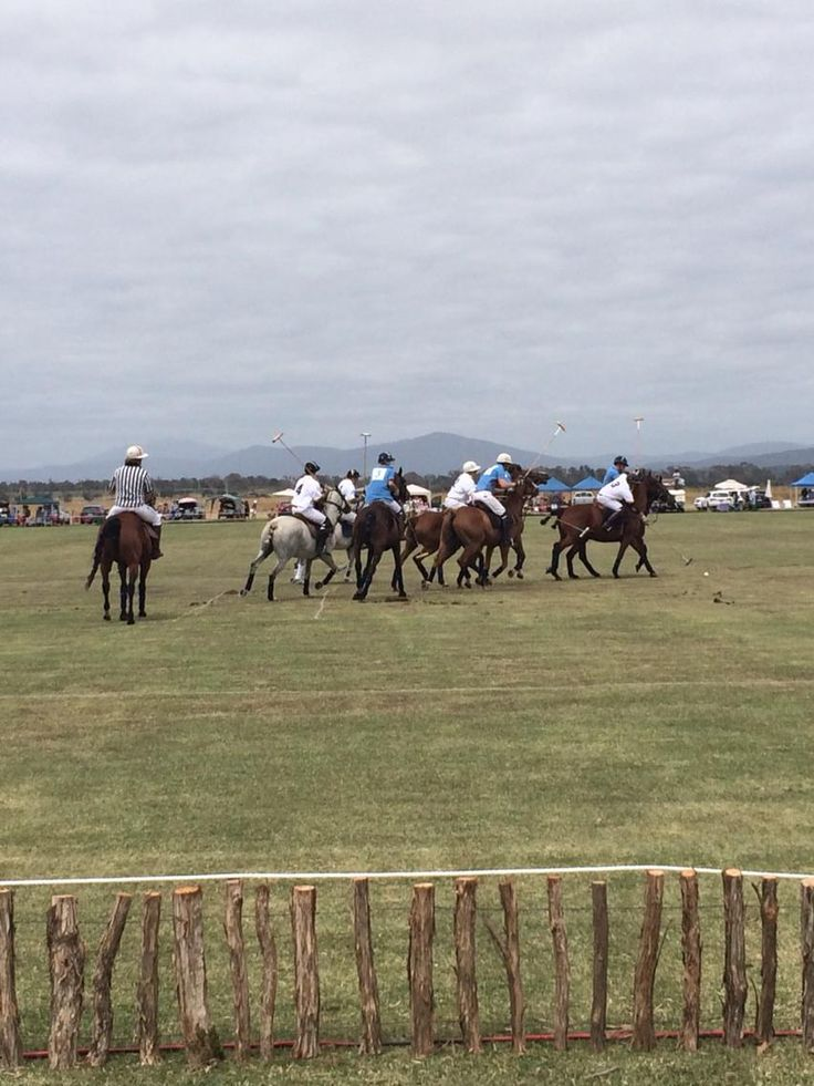 And they're off! #polo underway @barnbougle #tasmania @RachelSCTV