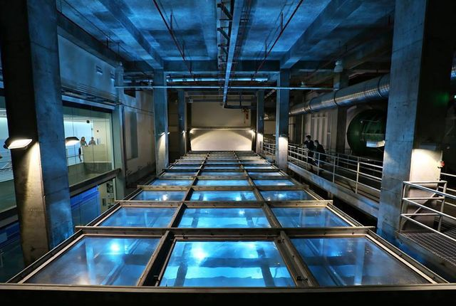 There's a category 5 hurricane brewing in Florida, but it's man-made, and contained within an acrylic tank at the University of Miami.  Inside the World's Largest Hurricane Simulator.