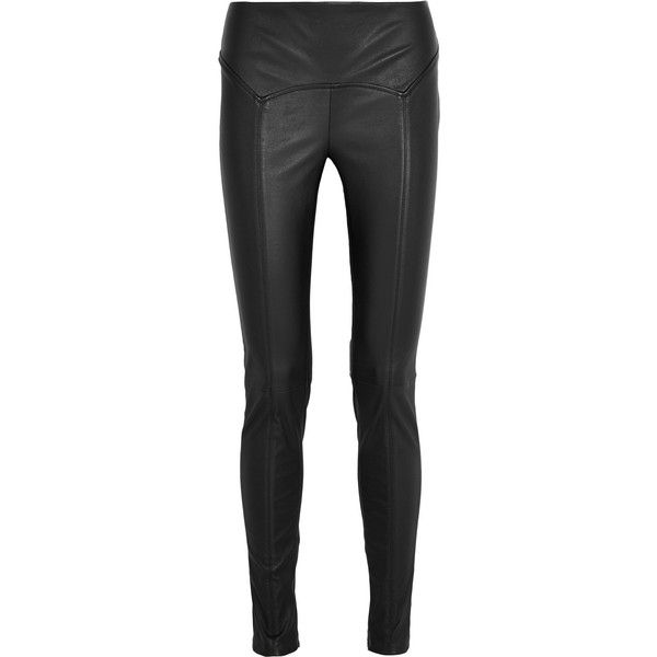 Tom Ford Stretch-leather leggings ($2,020) ❤ liked on Polyvore featuring pants, leggings, bottoms, leather, tom ford, leather panel leggings, stretchy leggings, stretch skinny pants, genuine leather leggings and stretch pants