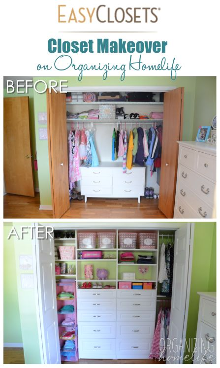 Organized closet reveal for a shared kids 39 room top for How to organize kids room