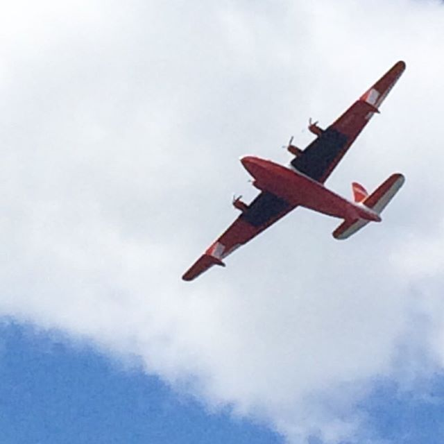 Yay, in the air today! ✈️ #martinmarsbomber #waterbomber #portalberni #bc #summer