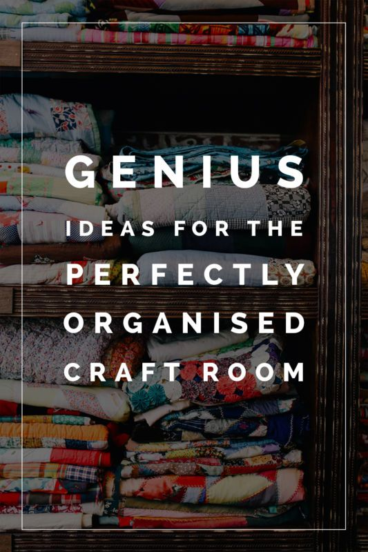 Struggling to get your supplies in order? These Genius Ideas for the Perfectly Organised Craft Room will help you finally do it!