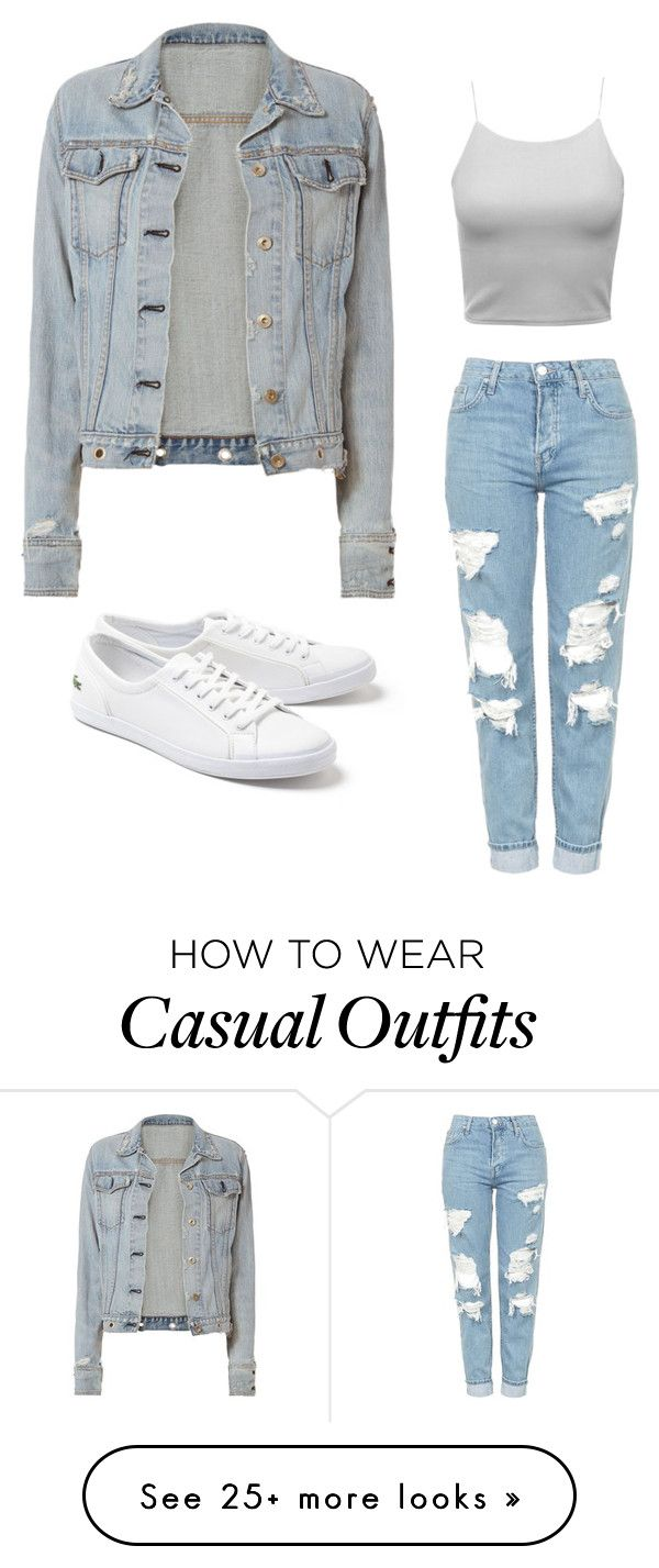 """Casualing It"" by stylingbobo on Polyvore featuring Topshop, rag & bone and Lacoste"