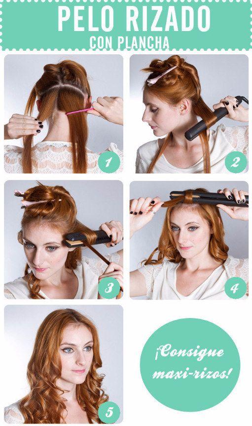 Cambia de look y riza tu cabello con la misma plancha. | 13 Trucos inteligentes para las chicas que se planchan el cabello