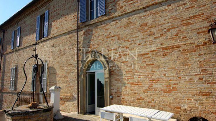 Historic palazzo for sale in Montecosaro, Marche.