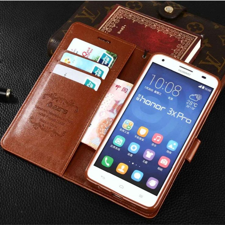 High Quality  Leather Case For Huawei Honor 3X G750 4C 4X 4A Cell Phone Cover + Credit Card Holder For Honor 3X G750 4C 4X 4A