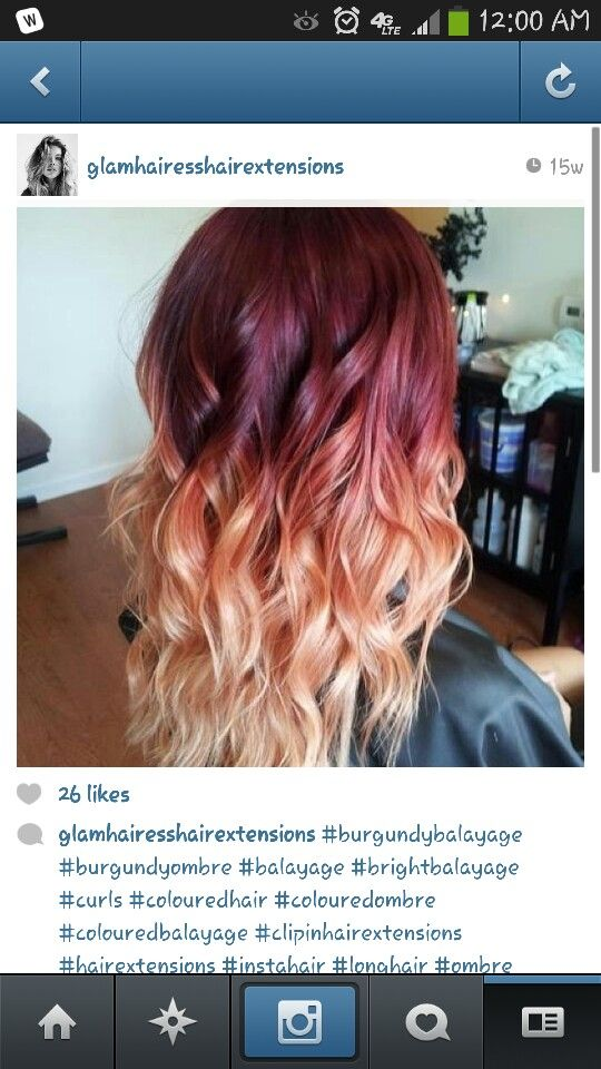 ... , Hairstyles, Blonde, Red, Hair Styles, Haircolor, Ombre Hair, Beauty