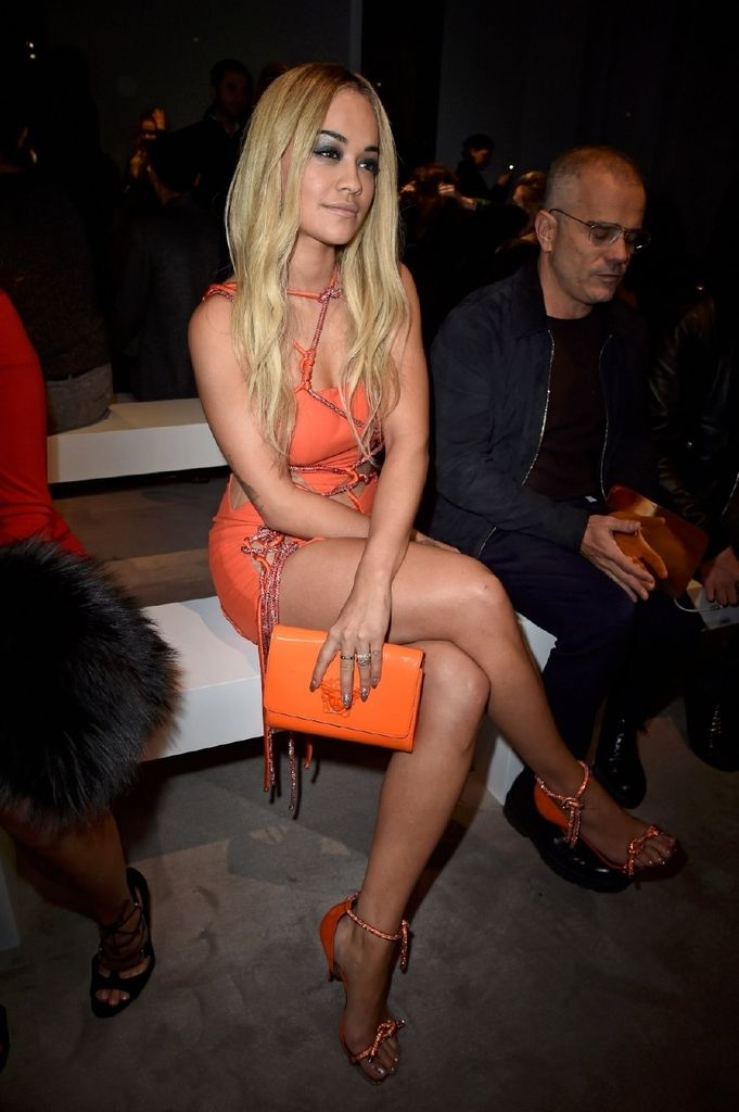 Rita Ora – Versace Spring Summer 2016 Fashion Show in Paris : Global Celebrtities (F) FunFunky.com