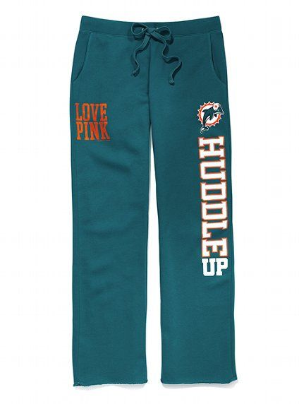 If only I still lived in FL!♡ Everything here is the crummy Ravens & Redskins.  Miami #Dolphins Boyfriend Pant. Victoria's Secret. I want these!!!