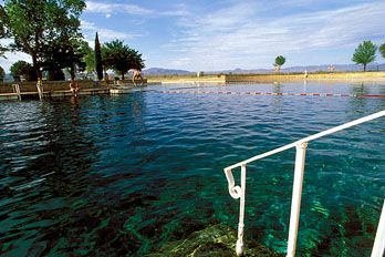 Crystal Clear Blue Water At Balmorhea State Park Swimming Pool Take A Camping Or Rving Trip