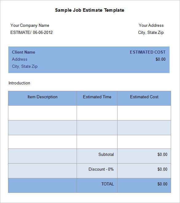 Best  Estimate Template Ideas On   Invoice Template