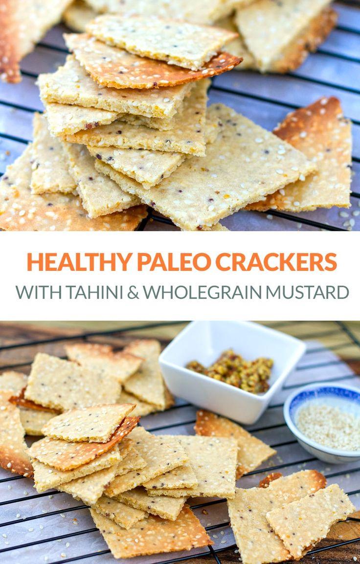Paleo Crackers With Tahini Wholegrain Mustard Recipe Almond