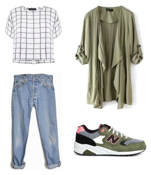 Basic by maniquen on Polyvore featuring polyvore, fashion, style, Myne, Levi's and New Balance