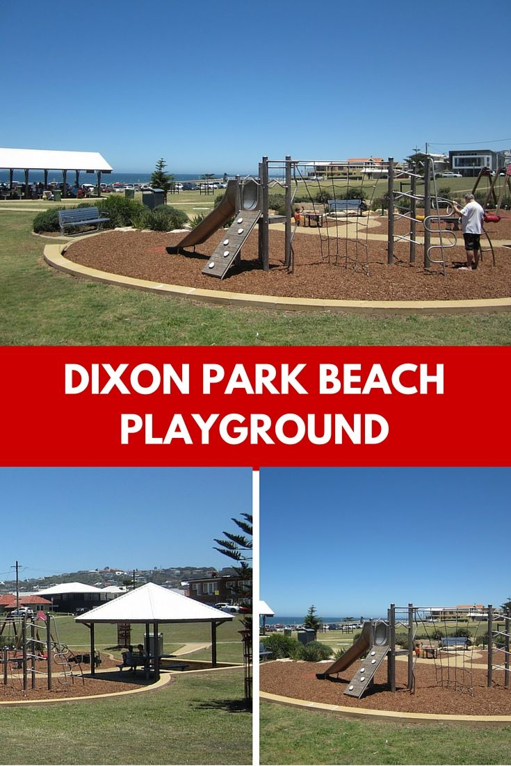 Relax at Dixon Park Beach playground in Merewether and enjoy the ocean views while your child plays.