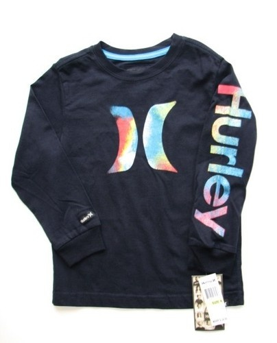 On Sale! NEW HURLEY Surf Skate Navy Blue Logo Long Sleeve T-Shirt Boys Size 4. $15.95 and FREE US SHIPPING!