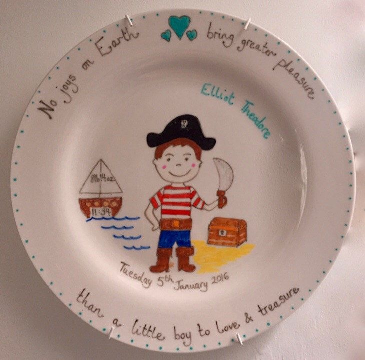 A personal favourite from my Etsy shop https://www.etsy.com/uk/listing/289004323/personalised-hand-painted-boy-themed