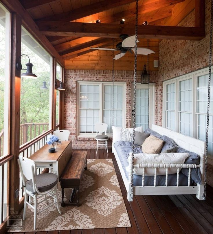 Sleeping porch off master bedroom...yesssss, especially when it's raining and cool - I love it !
