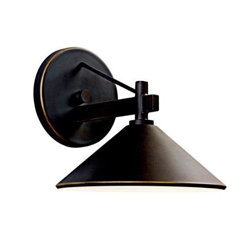 Kichler Lighting 49059OZ Ripley Light Outdoor Wall Lamp, Olde Bronze by Kichler. $68.00. From the Manufacturer                The Kichler Lighting 49059OZ Ripley Light Outdoor Wall Lamp delivers clean lines to a rustic look. The wall lamp brings an olde bronze finish that warms the smooth cone shape of the fixture. Whether you are looking for that perfect outdoor wall lamp for your outdoor living space, deck or patio; the sharp crisp lines and architectural shape en...