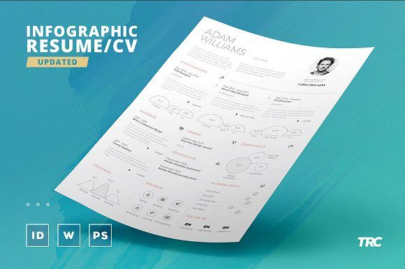 Infographic Resume/Cv Template Vol.4 by TheResumeCreator on @creativemarket