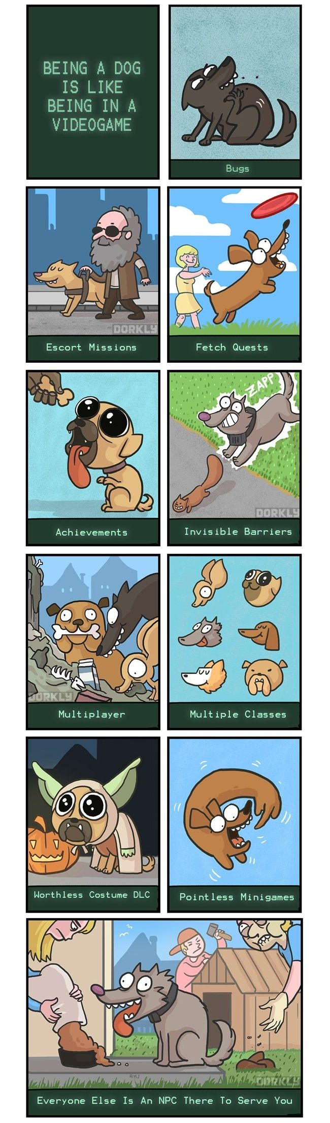 Being a Dog is Like Being in a Video Game [Comic] - How-To Geek