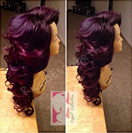 Curly Dark Red Amp Purple My Original Hair