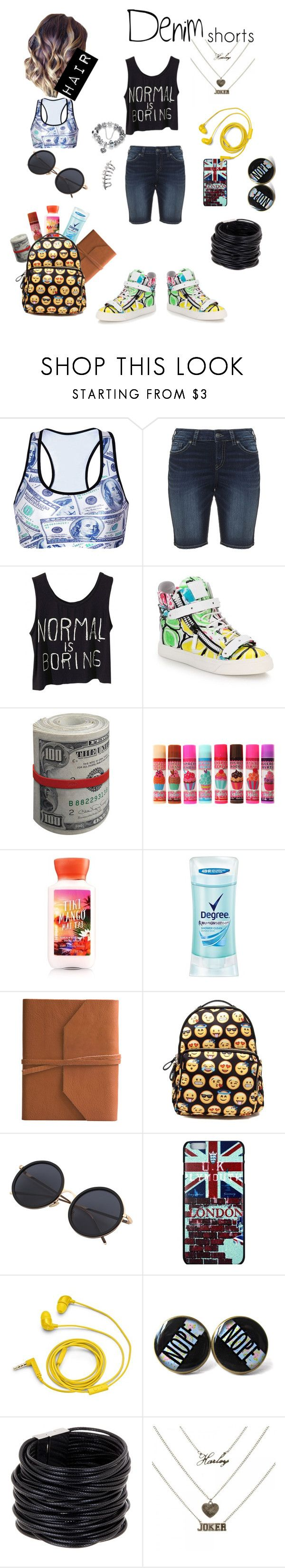 """""""normal is boring"""" by fashionforwardfaith ❤ liked on Polyvore featuring Silver Jeans Co., Giuseppe Zanotti, Degree, Eccolo, FOSSIL, Saachi, jeanshorts, denimshorts and cutoffs"""