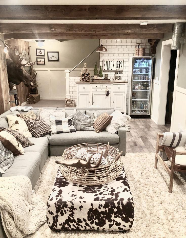 9 Basement Decorating Ideas For Insipiration 2019 Small Basement Apartment Decorat In 2020 Finished Basement Designs Farm House Living Room Basement Apartment Decor