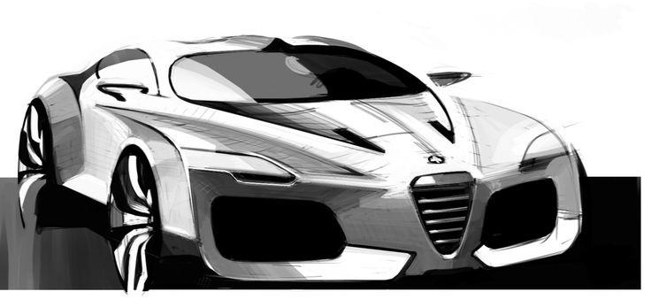 Gashetka | Transportation Design | 2009 | Alfa Romeo by Sasha Selipanov (Volkswagen...