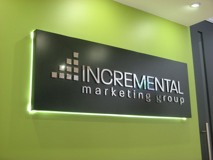 Incremental Marketing Group #CSI #signage #reception